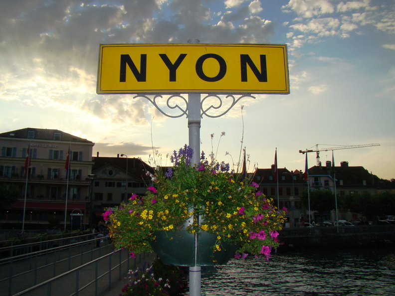 2008 07-Nyon Switzerland City Sign.jpg