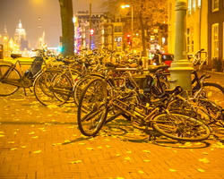 2012 11-Amsterdam Bikes at night